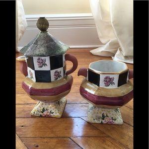 Mackenzie Childs Torquay teapot/creamer and sugar